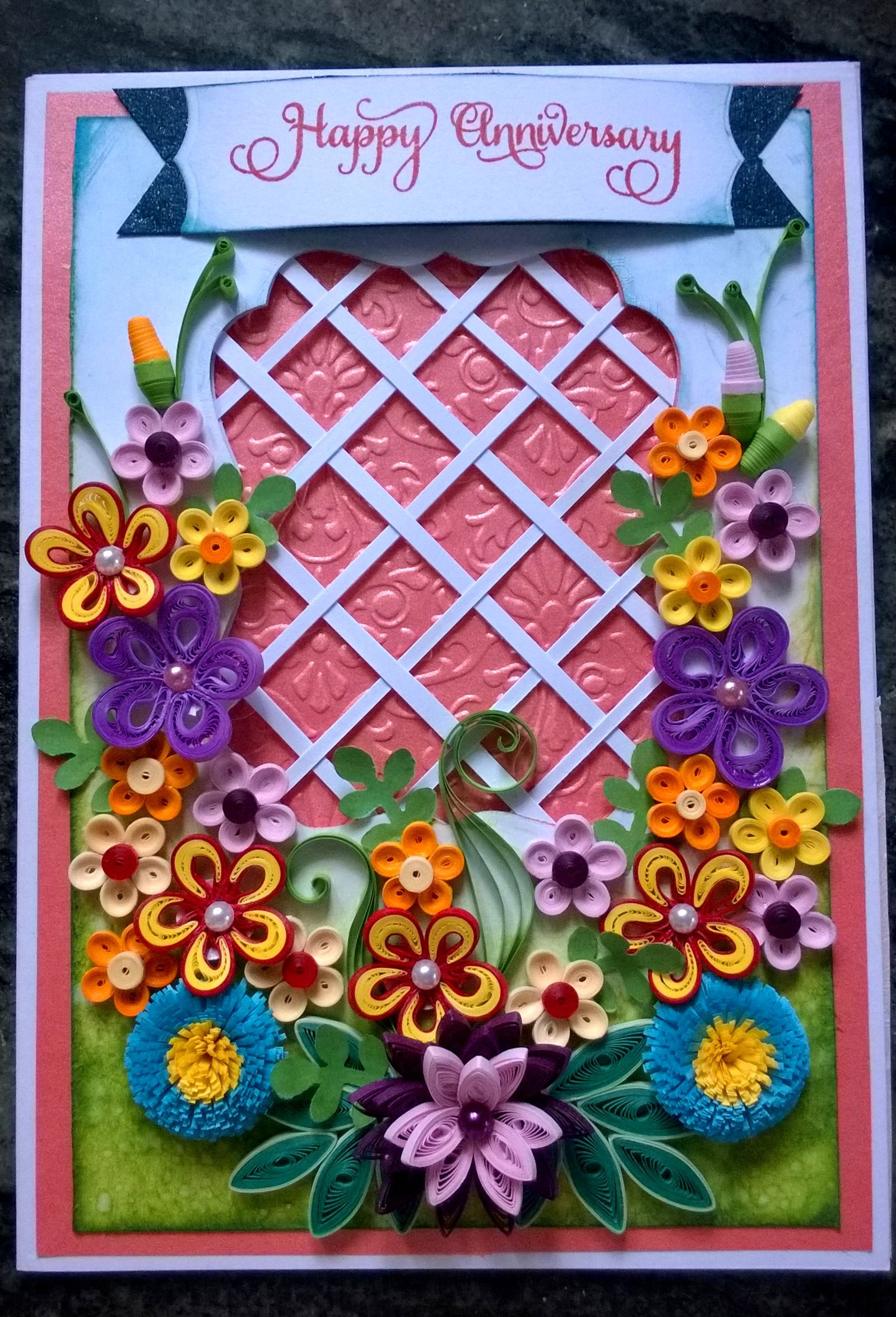 Another trellis card for 25th anniversary