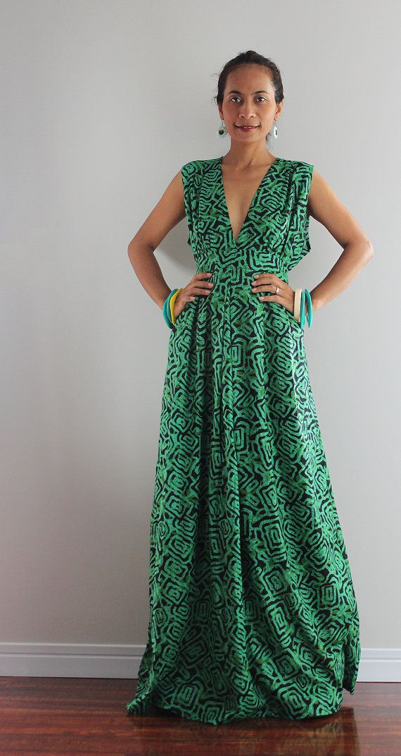 Boho Maxi Dress - Long Green Dress   Oriental Secrets Collection ... e611073b21