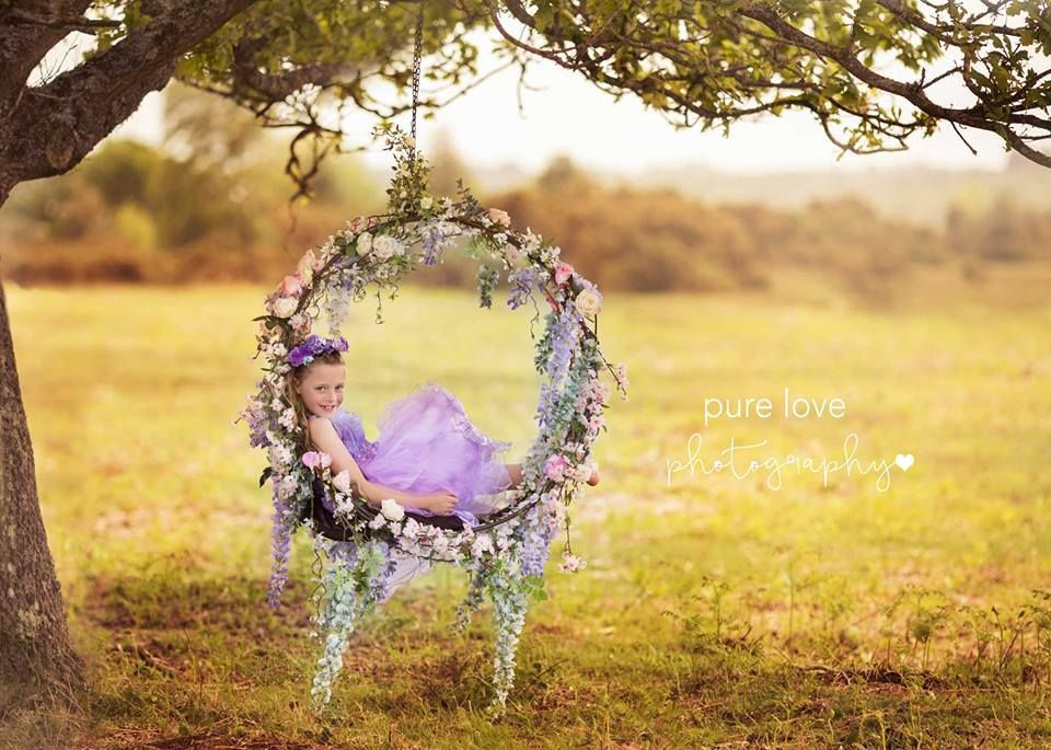 Child Swing Photo Prop Outdoor Session Spring Photography Kids Ideas