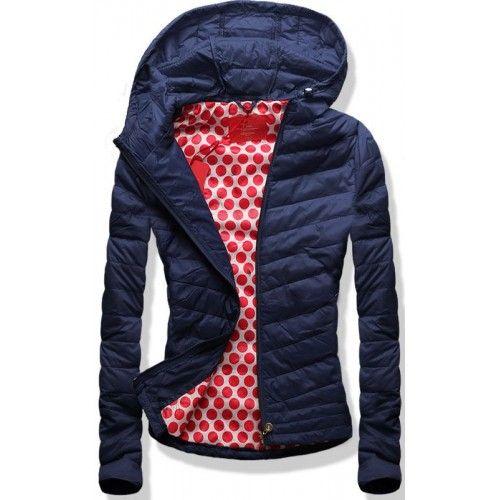 Dámská jarní podzimní bunda Premium modrá AKCE – modrá Krásná bunda Premium  vás ochrání v 58197f2905