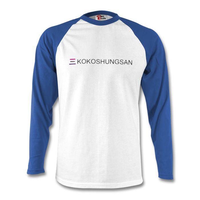Kokoshungsan Long Sleeve Baseball T-Shirt Blue. https://www.tshirtstudio.com/marketplace/kokoshungsan