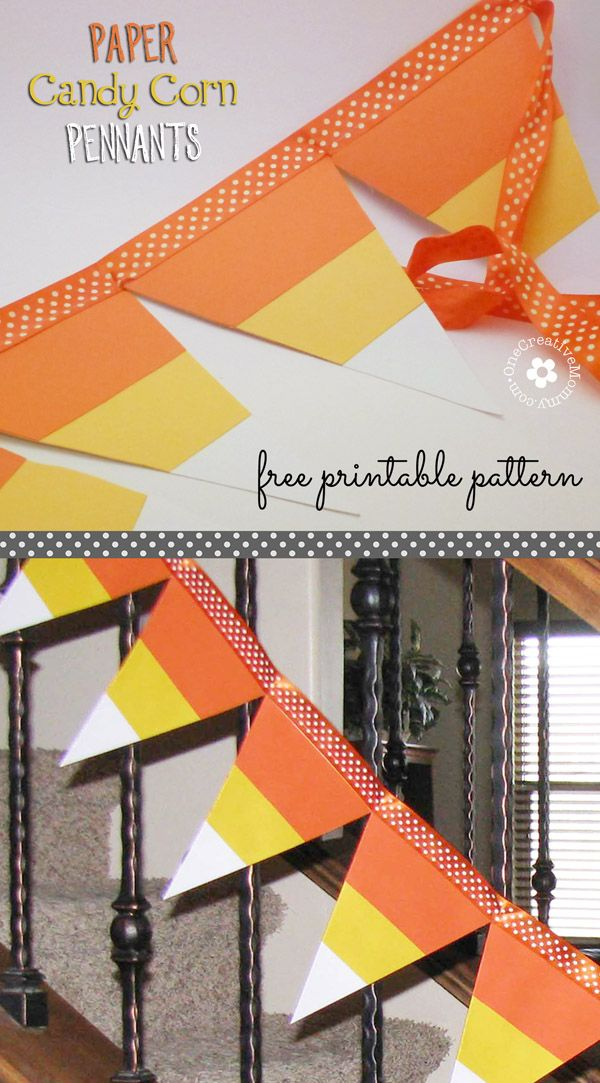 Paper Candy Corn Pennants Candy corn, Easy halloween and Buntings - cute easy halloween decorations