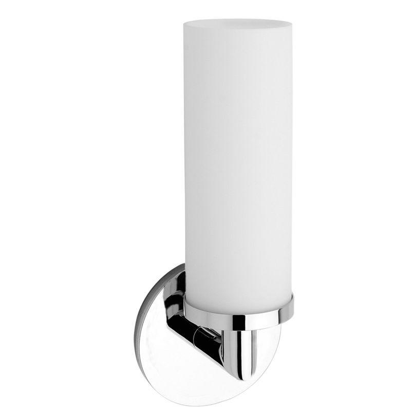 Awesome Websites Ginger L Kubic Wide Rosette Single Light Wall Sconce Polished Chrome Indoor Lighting Bathroom Fixtures Bathroom Sconce