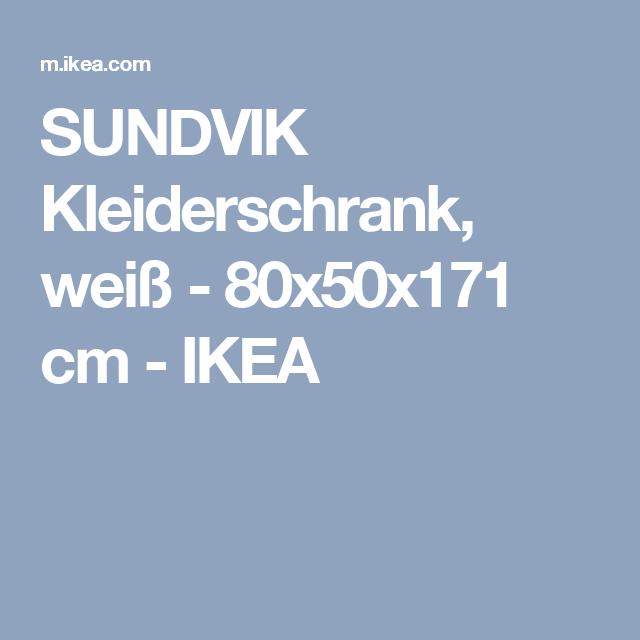 SUNDVIK Kleiderschrank, weiß - 80x50x171 cm - IKEA
