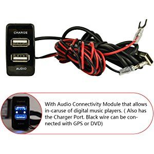 Awesome Mictuning High Speed Dual Port Usb Car Charger With Audio Socket For Wiring Cloud Cosmuggs Outletorg
