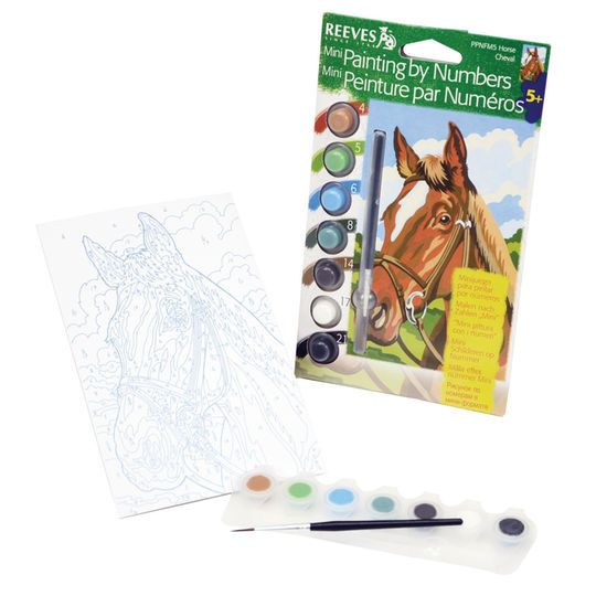 reeves mini paint by numbers horse products pinterest