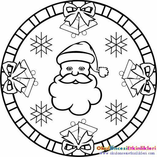 çocuklar Için Noel Mandala Boyama Mikulás 2 Santa Claus St