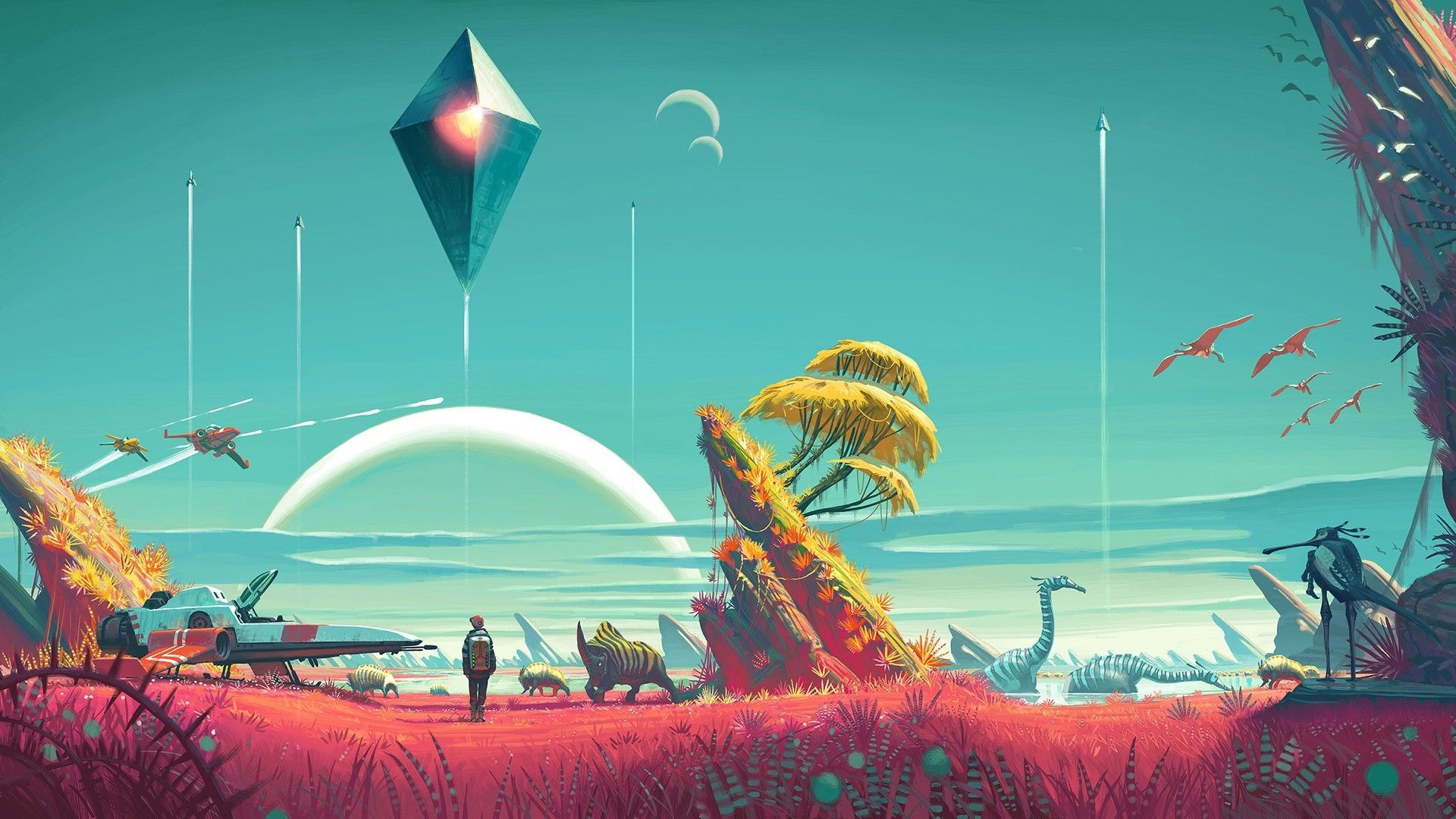 No Mans Sky Wallpapers Hd Dogwallpapers Proyectos Y Lugares