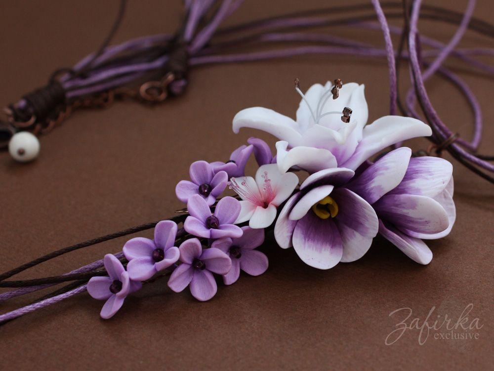 Полимерная глина цветы мастер класс по фото