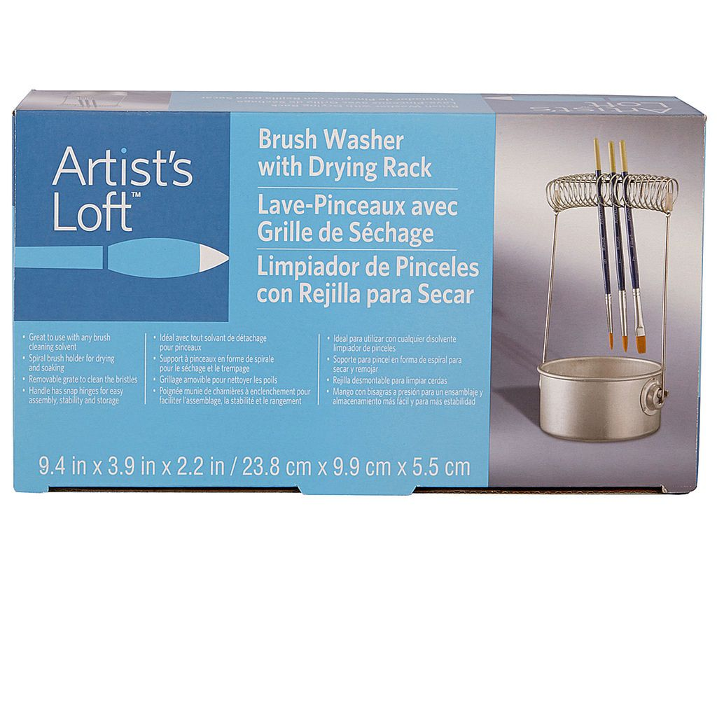 Brush Washer With Drying Rack By Artist S Loft