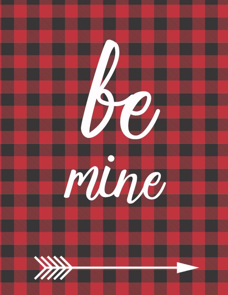 Buffalo Plaid Valentine/'s Day Banner-Custom Buffalo Plaid Banner-Valentine/'s Day Party-Valentine Decor-Red and Black Buffalo Plaid
