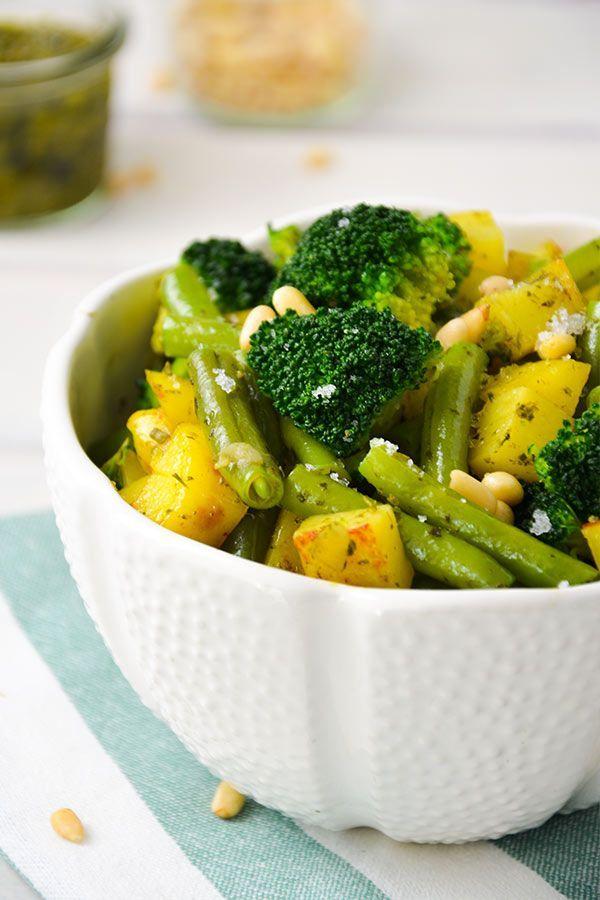 Schnelle Kartoffel‐Pesto‐Pfanne