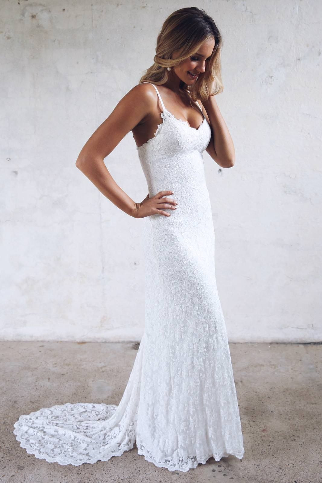Mia Gown Lace Wedding Dress in 2020 Simple lace