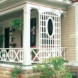 Latticework Porch Trellis Porch Trellis Building A Porch Building A Pergola