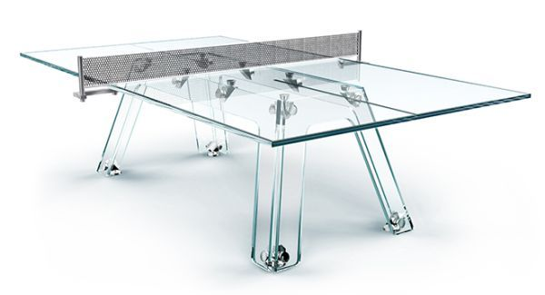 Incredible Billiards And Ping Pong Tables Made From Glass Sick - Billiards ping pong table
