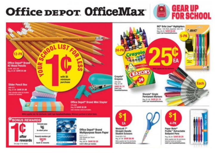 Office Depot Back To School Deals For The Week Of July 10 2016