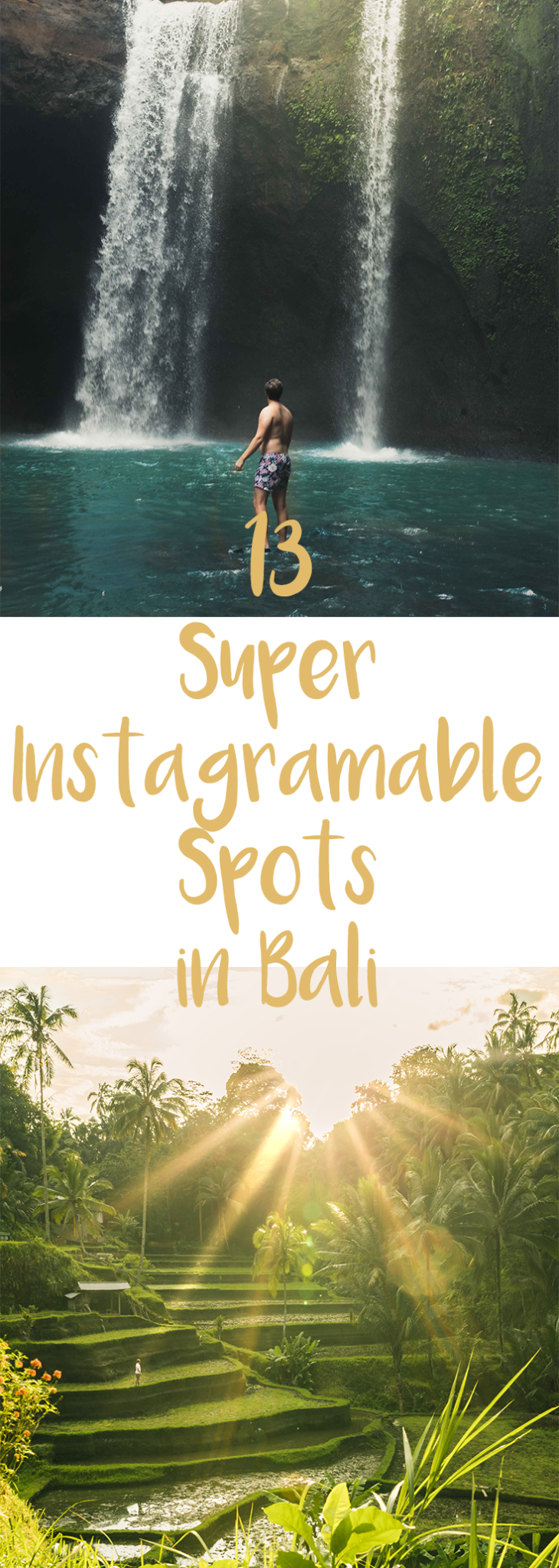 Bali is one of the most beautiful destinations in the world. From the roaring volcanoes to the beautiful beaches and everywhere in between these are the most instagramable locations in Bali. via @passports2life