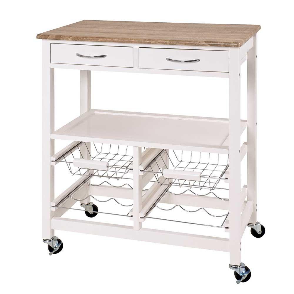 Küchenwagen Acillona in Weiß mit Flaschenablage | Küche | Pinterest | {Küchenwagen schmal weiß 27}