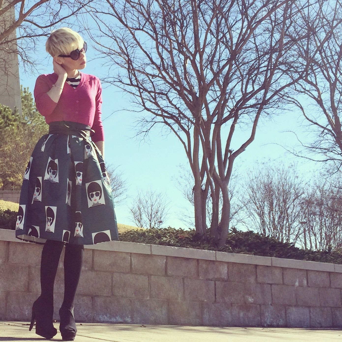 Gorgeous skirt, gorgeous outfit. Just all around gorgeous! #modcloth #stylegallery
