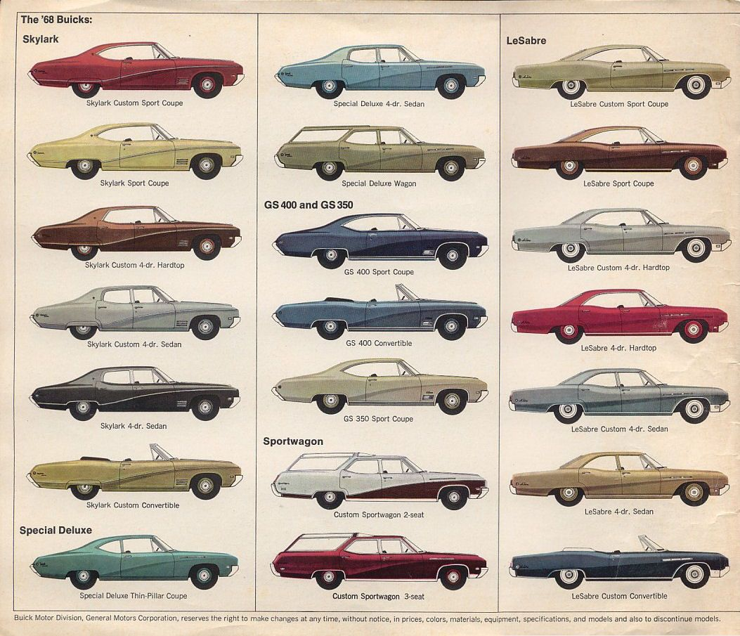 1968 buick lineup pt 1