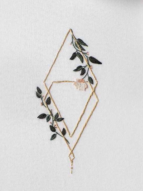 Motif de broderie florale à la main, motif PDF / Serenity Figure 4 / par StitchFloral / tutoriel de broderie, téléchargement numérique   – stichfürstichinsglück