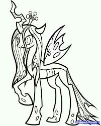 Queen Chrysalis My Little Pony Coloring Pages My Little Pony