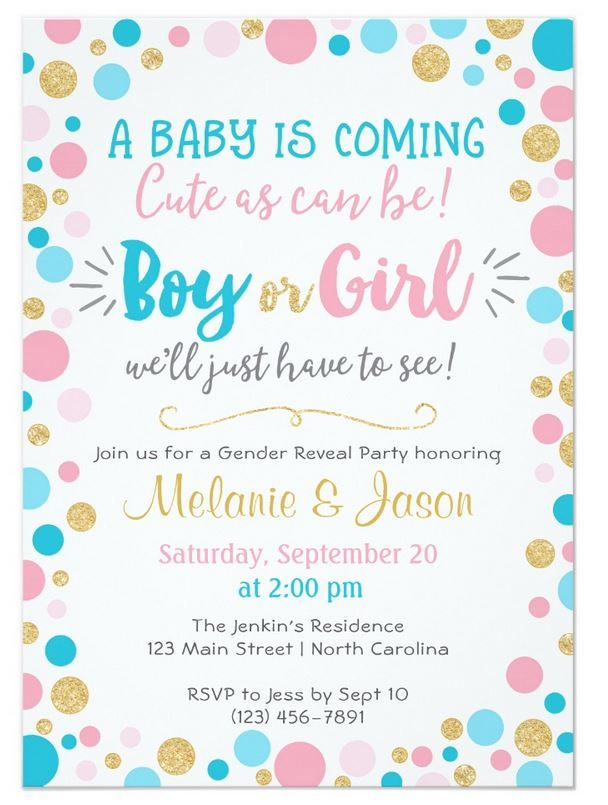 Gender Reveal Invitation Baby Shower Boy or Girl | Gender reveal ...