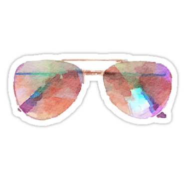 Aviator Sunglasses Watercolor Sticker Hipster Trendy Meme Sticker By Vrai Chic Hipster Stickers Watercolor Stickers Aviator Sunglasses