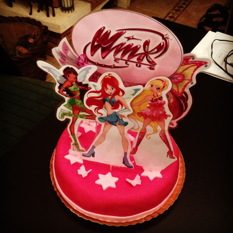 Winx Club Fondant Birthday Cake For A 6 Year Old Girl