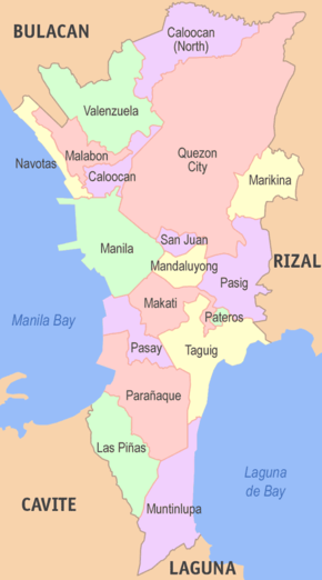 Metro Manila Capital Region Philippines Cities Philippine Map First stay here, although often stay in manila bay/mall of asia area! metro manila capital region