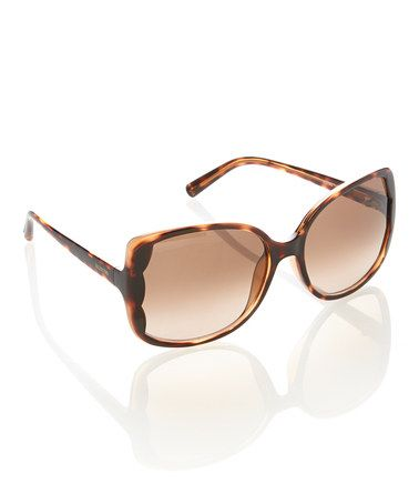 Take a look at this Dark Havana Scalloped Sunglasses by Valentino on #zulily today!