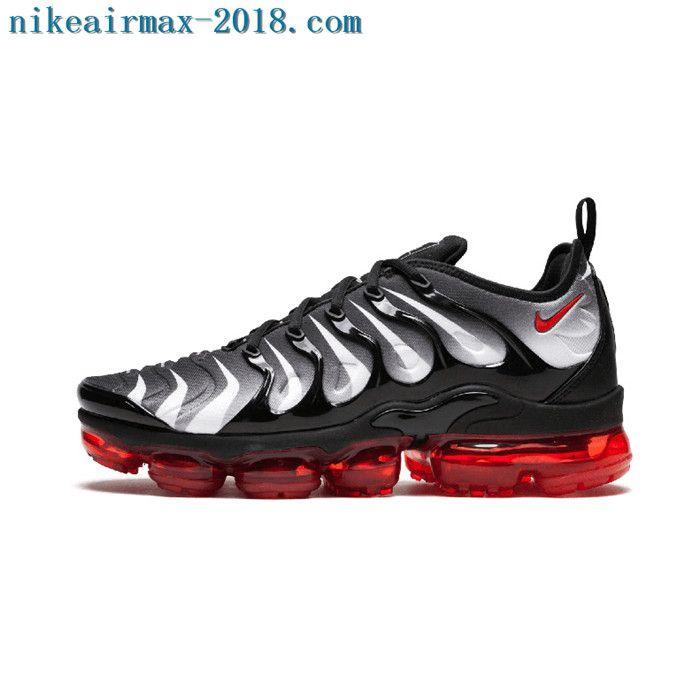 c1e3419060614 2018 Nike Air Vapormax Plus Mens Sneakers Red Shark Tooth