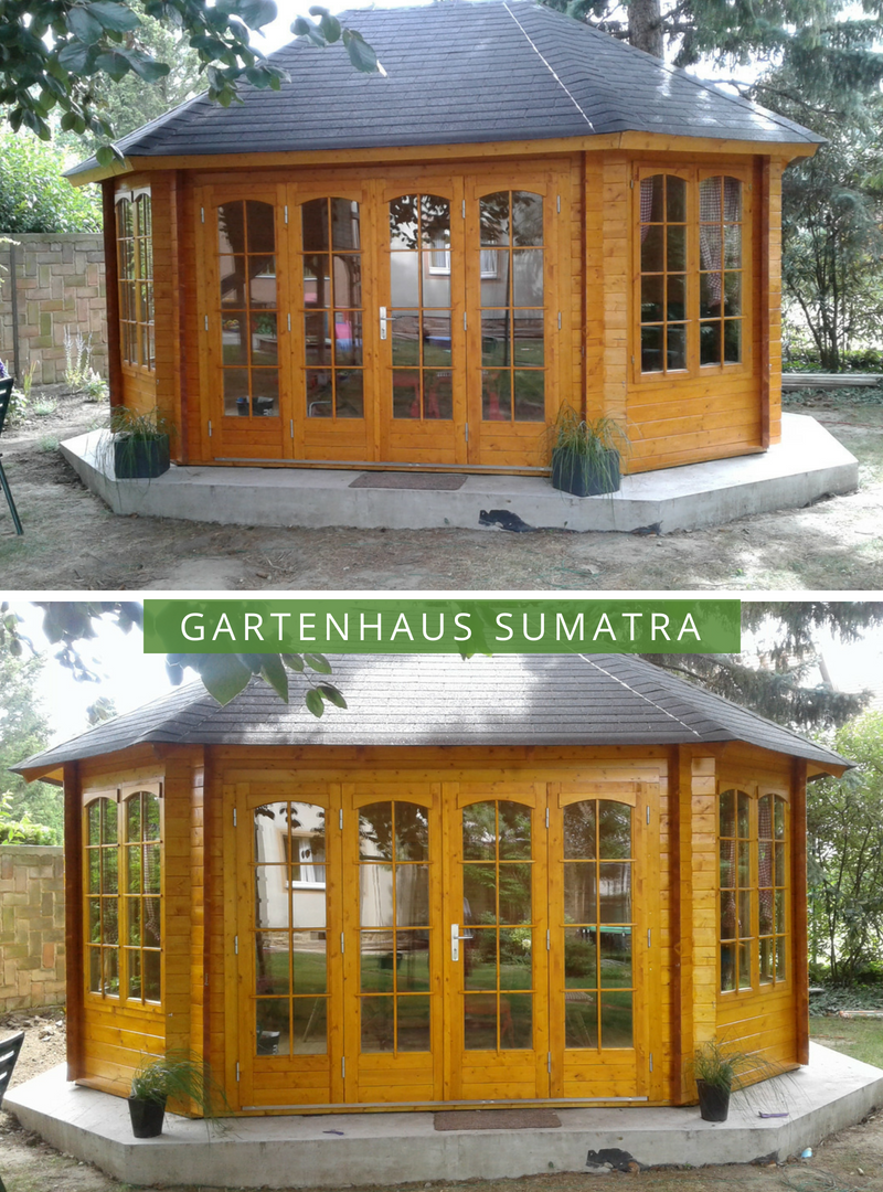 Gartenpavillon Sumatra44 ISO mit großer Falttür in 2020