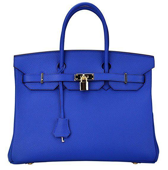 119 Electric Blue Hermes Birkin Bag Dupe Deisgner Dupes Designer Handbag