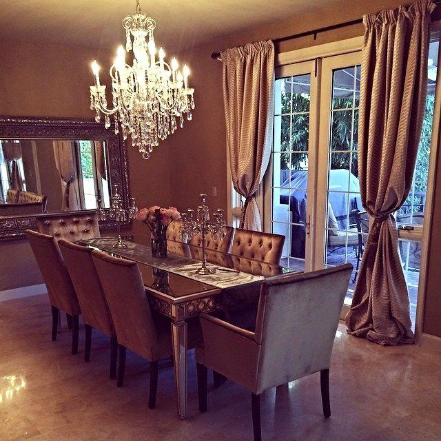 Mirrored Dining Room Set: @samiraandco Showed Off A Stunning Dining Room, Elevated