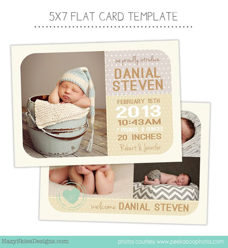Birth Announcement Template  Birth Announcements