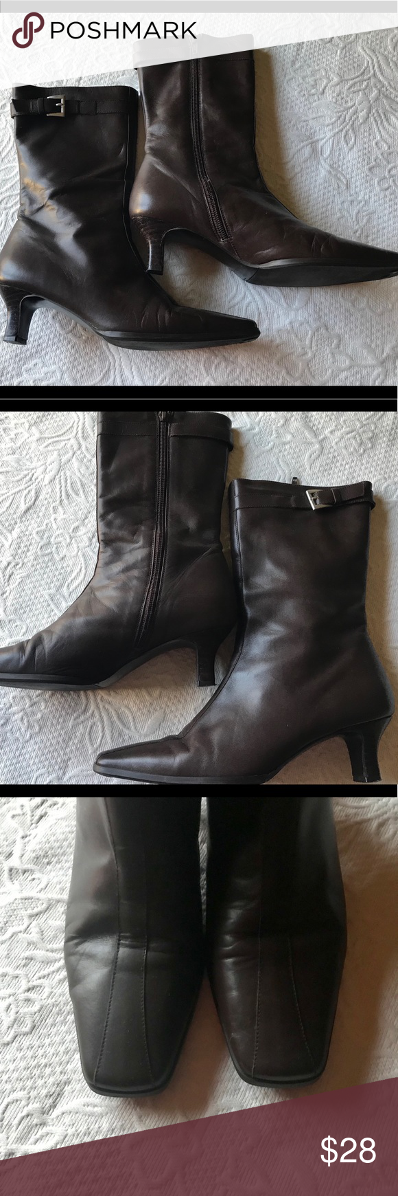 04f66c327464 Talbots Calf Length Boots Talbots Leather size 7 medium Chocolate Brown  Calf Length Boots. 1.5