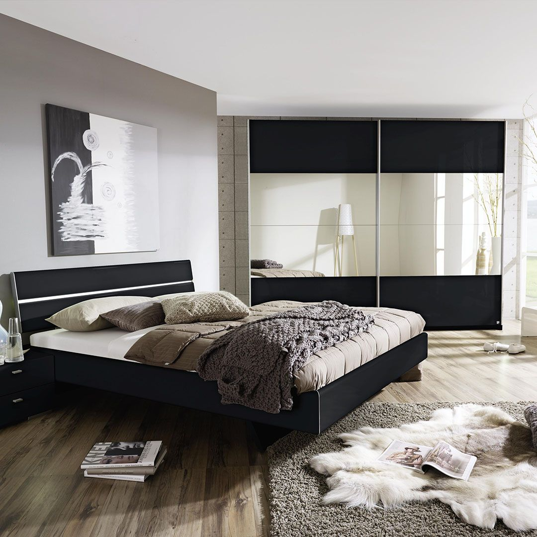 Ultra modern high gloss with mirrored doors Avela