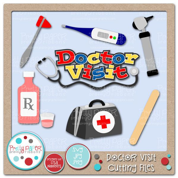 Card Making Party Ideas Part - 22: Doctor Visit Cutting Files - Great For Card Making, Party Décor,  Educational Use And