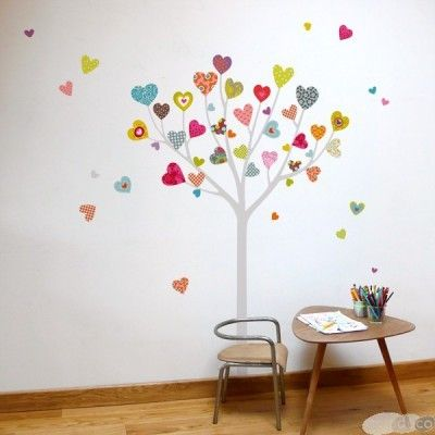 Heart Tree Wall Sticker - Nubie stock a vast range of modern wallstickers for the Nursery and family home | Nubie - Modern Baby Boutique