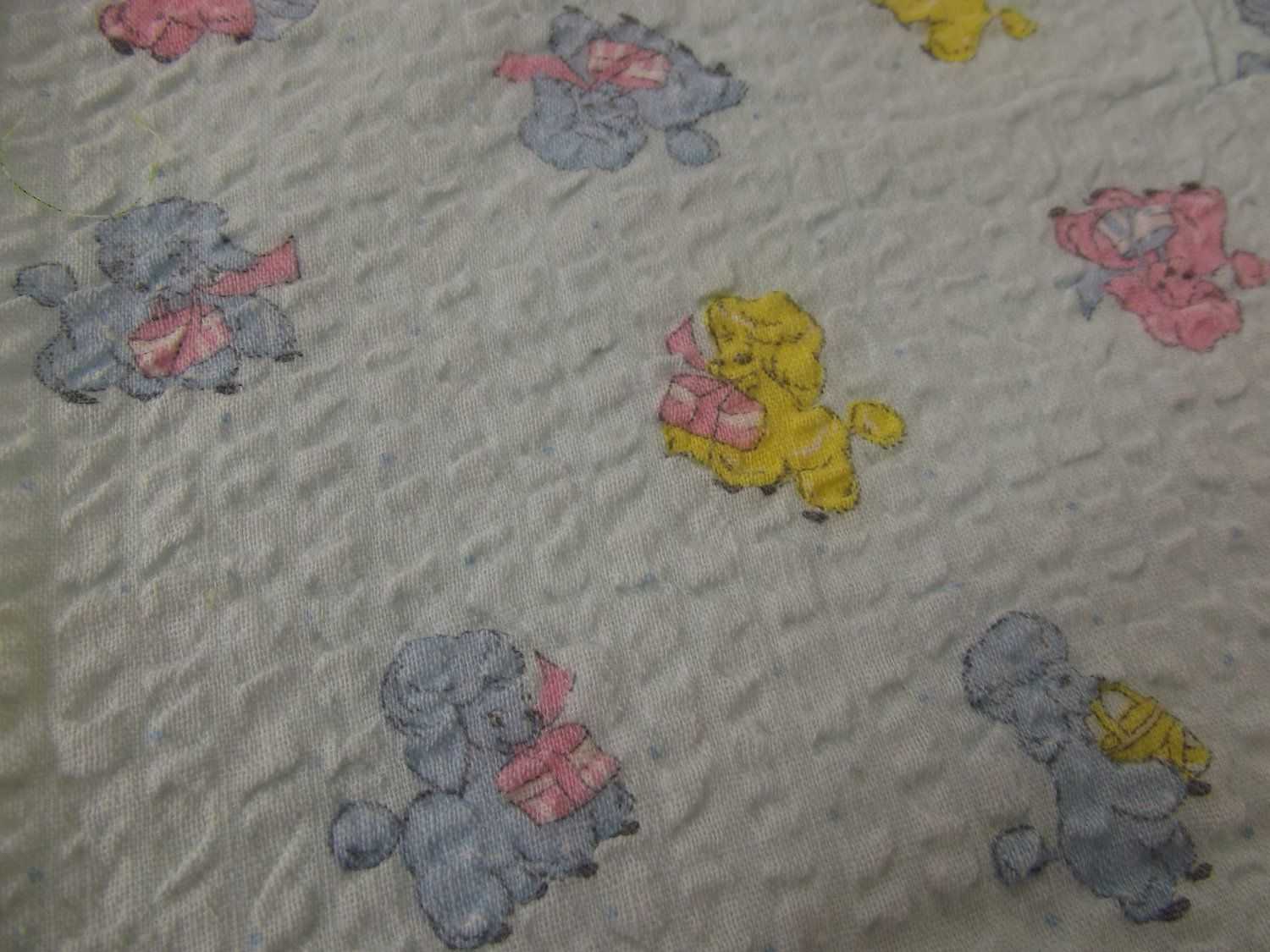 1930s 40s children 39 s novelty print puckered cotton for Kids novelty fabric