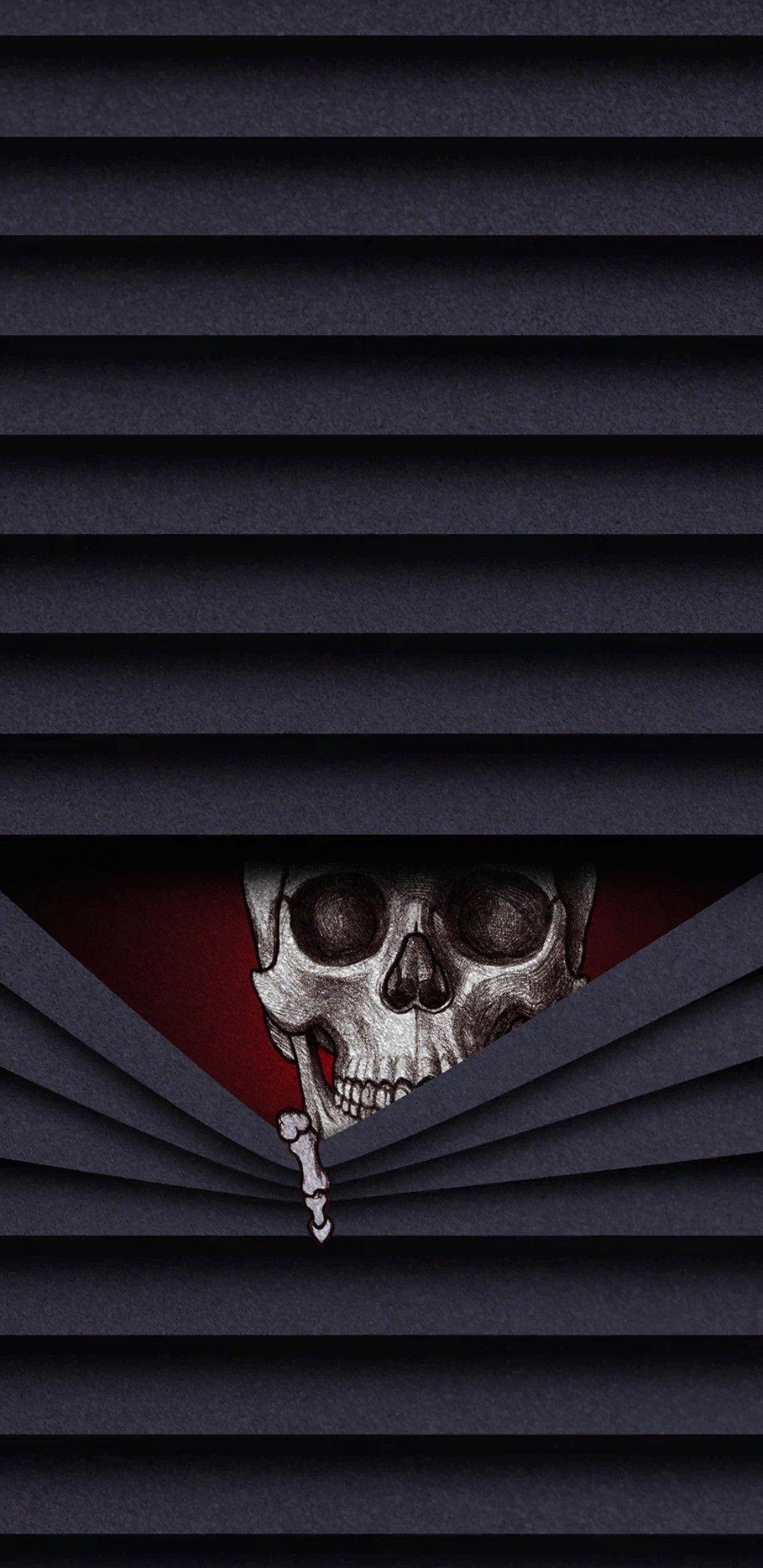 Peek A Boo Black Skulls Wallpaper Gothic Wallpaper Skull Wallpaper