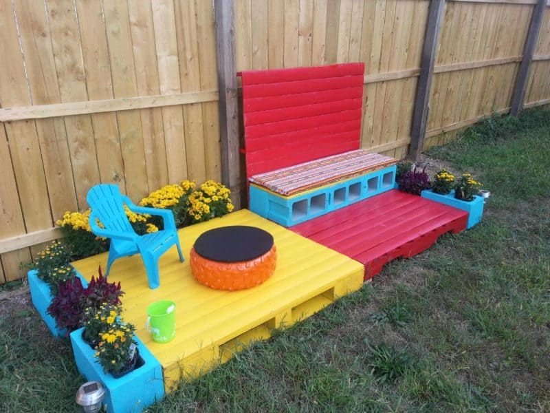 How I Built My Grand Daughter Her Own Patio | Outdoor ...