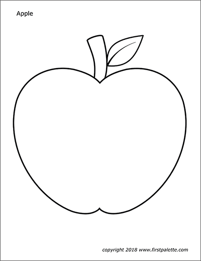 Apples Free Printable Templates Coloring Pages Firstpalette Com Apple Coloring Pages Apple Coloring Coloring For Kids Free