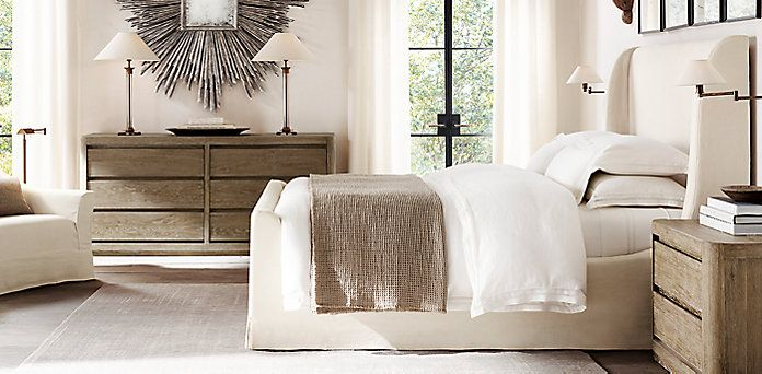 Bedford Slipcovered Bed Collection Bedroom Design Slipcovers Home Decor