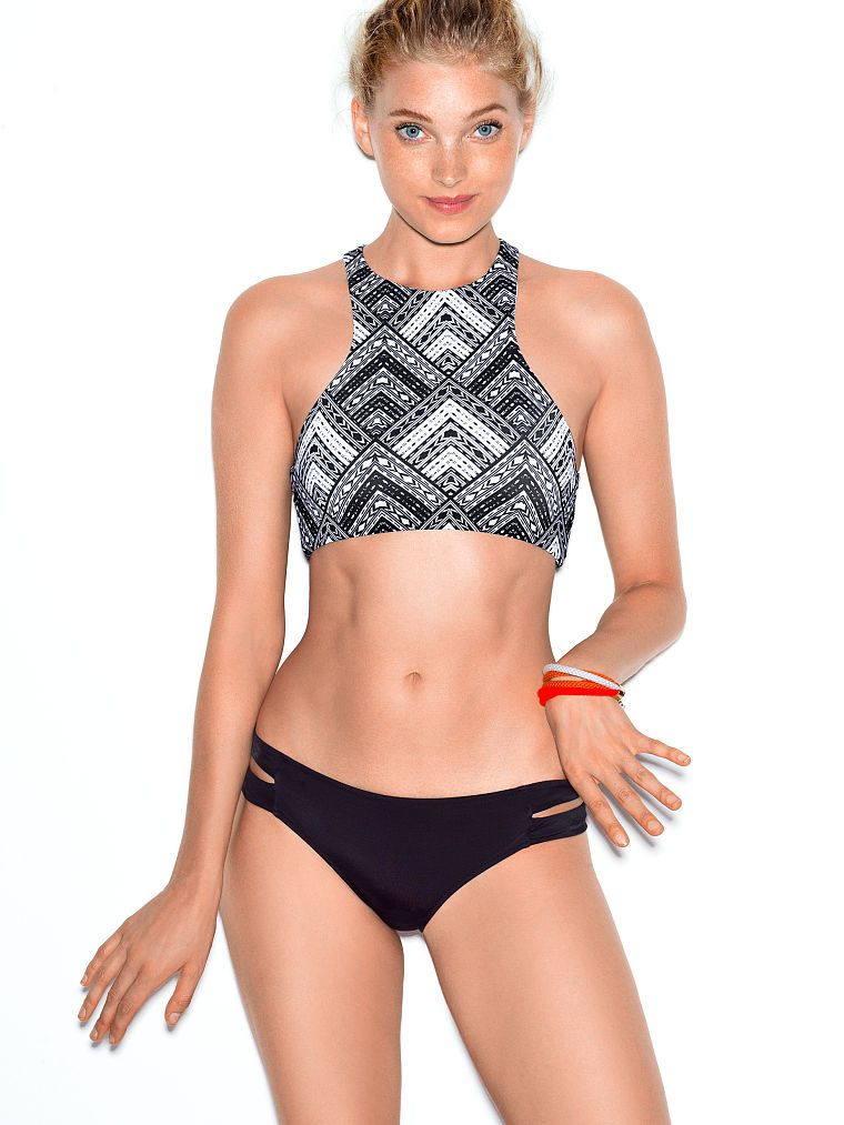 ade6f2c7a4 ... suits, bikinis and more swim styles. High-neck Crop Top - PINK -  Victoria's Secret