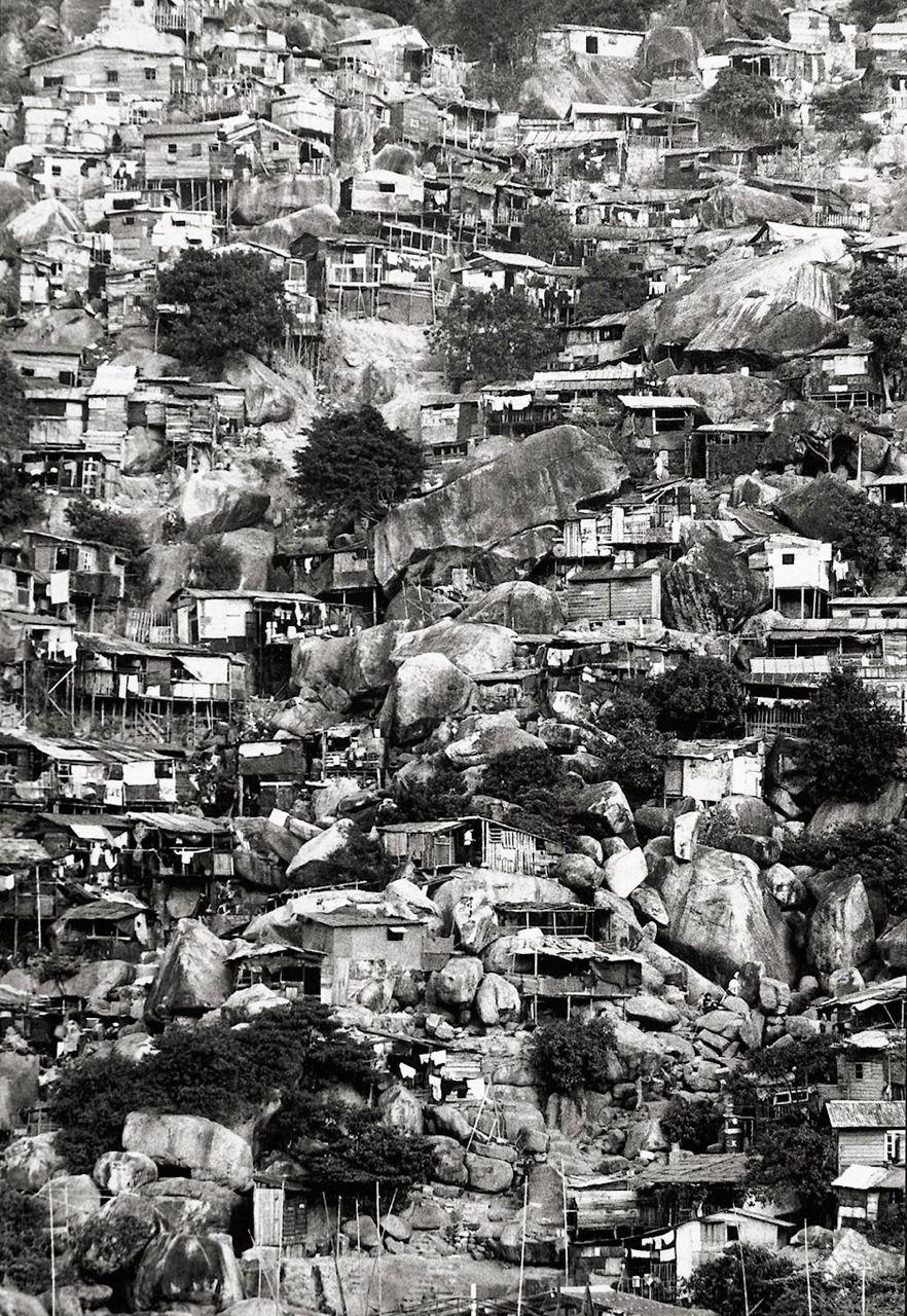 """zzzze """"Burt Glinn Hong Kong, houses on hillside, 1961"""