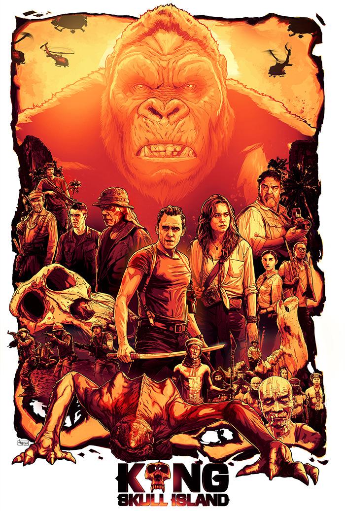 Kong: Skull Island by Autumn Rain Turkel - Home of the Alternative Movie Poster -AMP-