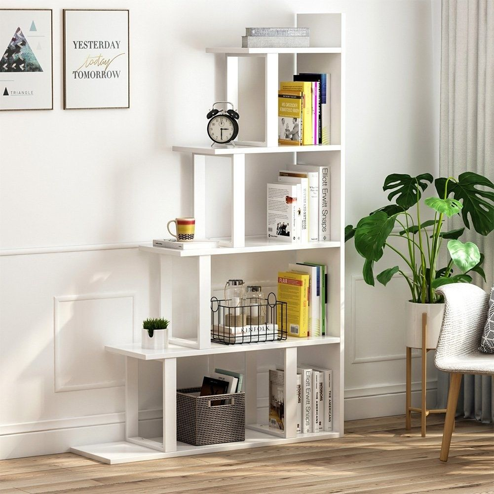 30 Beautiful Pieces Of Furniture And Decor That Are Surprisingly Cheap Corner Bookshelves Step Bookcase Home Decor