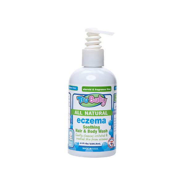TruBaby Eczema Soothing Natural Body & Hair Wash | Walgreens (37 BRL) ❤ liked on Polyvore featuring beauty products, bath & body products and body cleansers